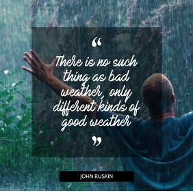 Rain quote video template for instagram
