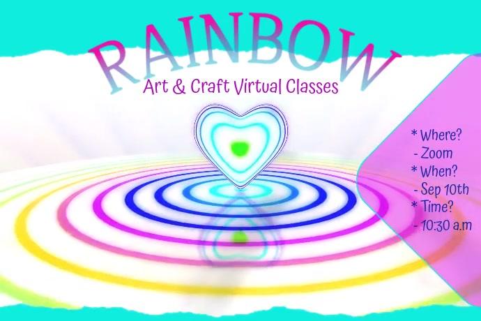 Rainbow Art Class Poster Cartaz template