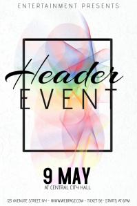 rainbow artictic minimalistic concert event flyer template