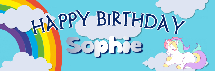 rainbow birthday banner template postermywall