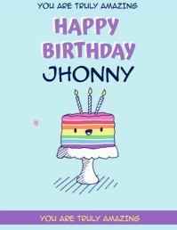 rainbow BIRTHDAY FLYER TEMPLATE