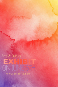 Rainbow Colorful Paint Simple Modern Event Club Venue Art