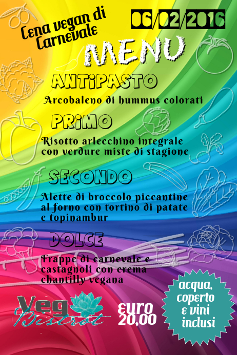 rainbow menu template postermywall