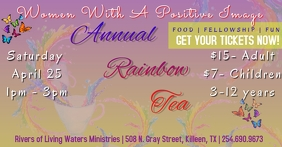 Rainbow Tea Food Fellowship Facebook begivenhed cover template