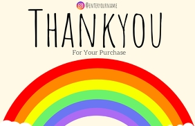 Rainbow thank you card TJ Tabloid template