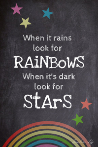 Rainbows and stars inspiration room poster