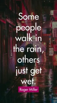 Rainy Quotes Instagram Story template