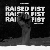 Raised fist mixtape cover art design template Albumhoes