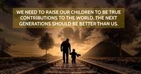 RAISING CHILDREN QUOTE TEMPLATE โฆษณา Facebook