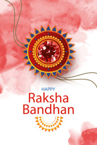 Rakhi template, Indian festival template Poster
