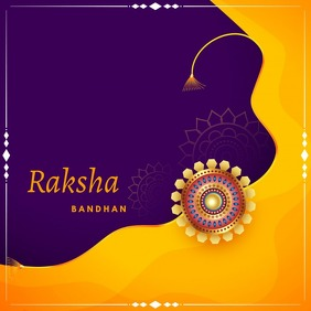 Rakhsha bandhan,diwali,Indian festival Instagram Post template