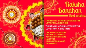 Raksha Bandhan Best Wishes Template Видеообложка профиля Facebook (16:9)