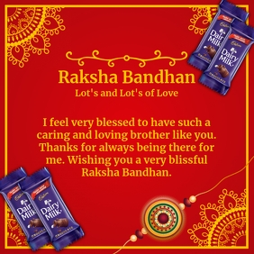 Raksha Bandhan Best Wishes Template Квадрат (1 : 1)