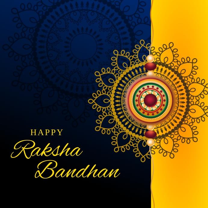Raksha Bandhan Best Wishes Template Kvadrat (1:1)