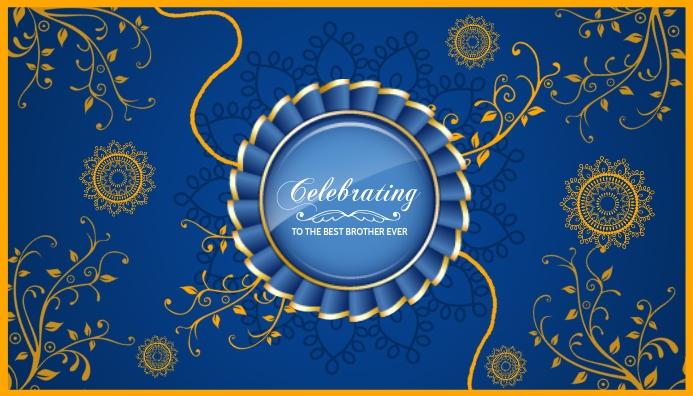 Raksha Bandhan Celebration Card Template