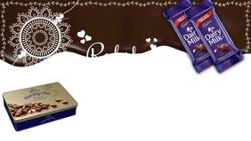 Raksha Bandhan Chocolate Greeting Template Vídeo de portada de Facebook (16:9)