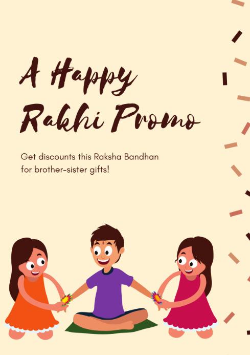 Raksha Bandhan design A4 template