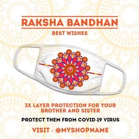Raksha Bandhan Face Mask Template Persegi (1:1)