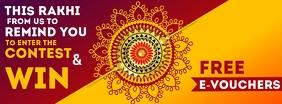Raksha Bandhan Free Vouchers Template Facebook 封面图片