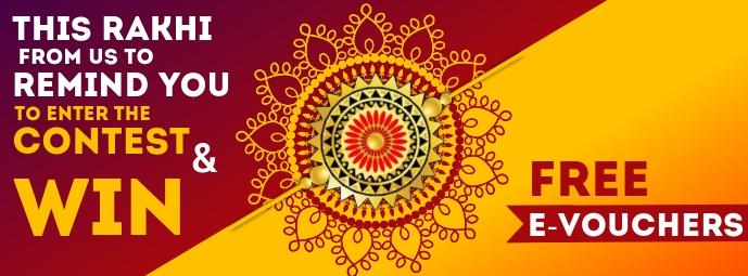 Raksha Bandhan Free Vouchers Template Portada de Facebook