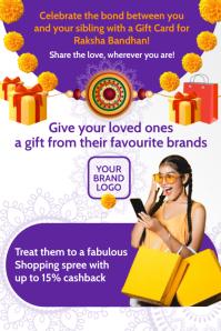 Raksha Bandhan Gift Card Template Poster