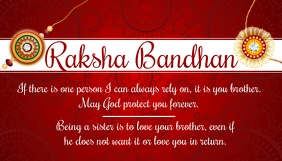 Raksha Bandhan Greeting Card Template