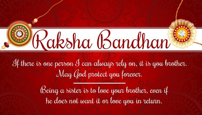 Raksha Bandhan Greeting Card Template
