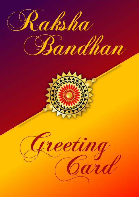 Raksha Bandhan Greeting Card Template A3