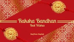Raksha Bandhan Greeting Template Видеообложка профиля Facebook (16:9)