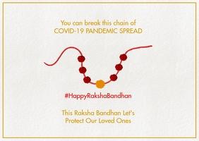 Raksha Bandhan in Covid-19 Template Postcard