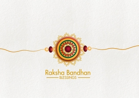 Raksha Bandhan Postcard Template Postkort