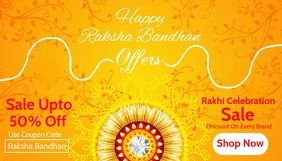 Raksha Bandhan Sale Card Template