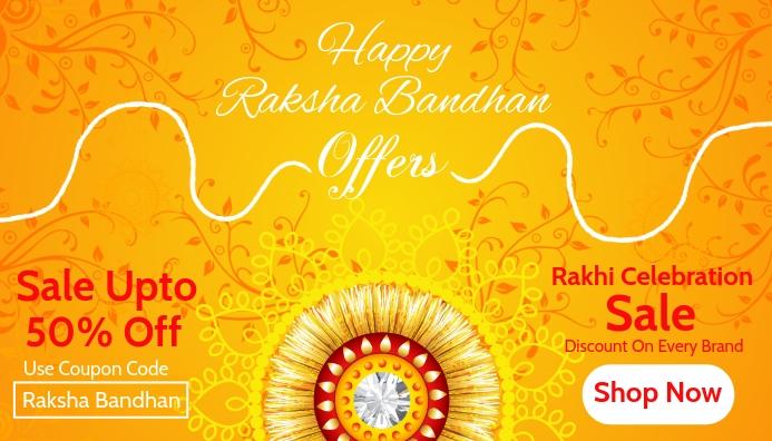 Raksha Bandhan Sale Card Template Visitkort
