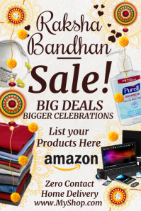 Raksha Bandhan Sale on Brands Template Cartaz