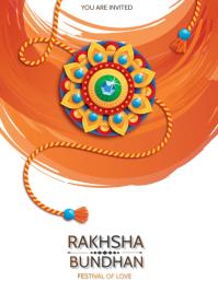 Raksha Bundhan,Rakhi,Holi Flyer (US Letter) template