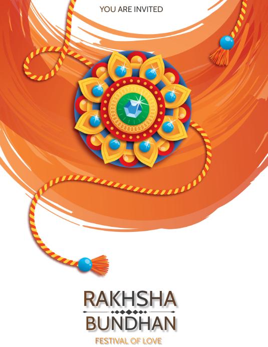 Raksha Bundhan,Rakhi,Holi Flyer (US-Letter) template