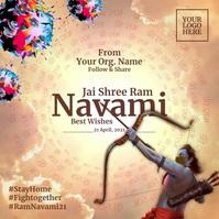 Ram Navami 2021 Template Post Instagram