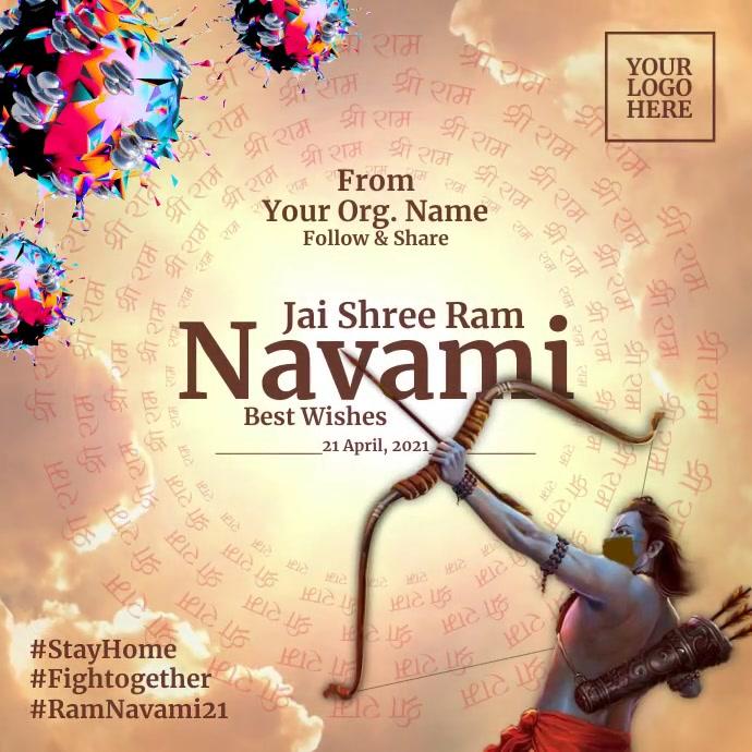 Ram Navami 2021 Template Instagram 帖子