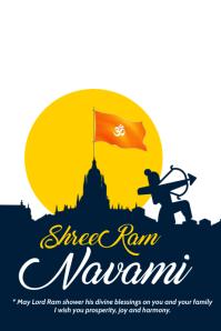 Ram Navami Template Poster
