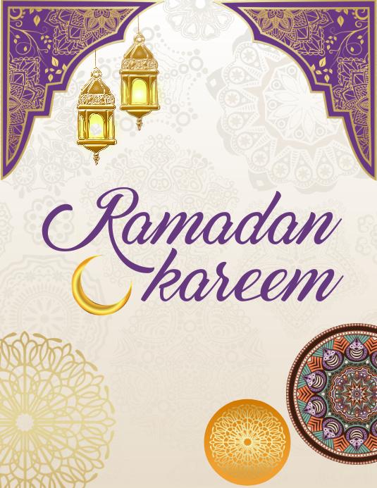 Ramadan, eid, eid mubarak Volante (Carta US) template