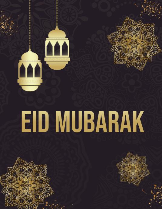 Ramadan, Eid, Eid Mubarak Volantino (US Letter) template