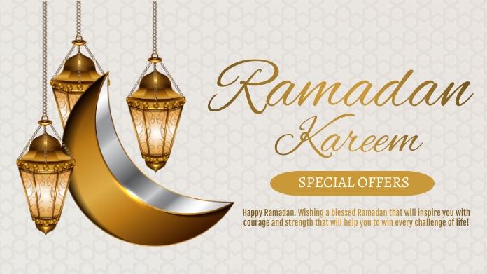 Ramadan, event,eid โพสต์บน Twitter template