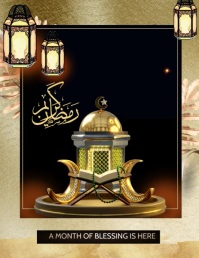 ramadan, quran and ramadan,eid Pamflet (Letter AS) template
