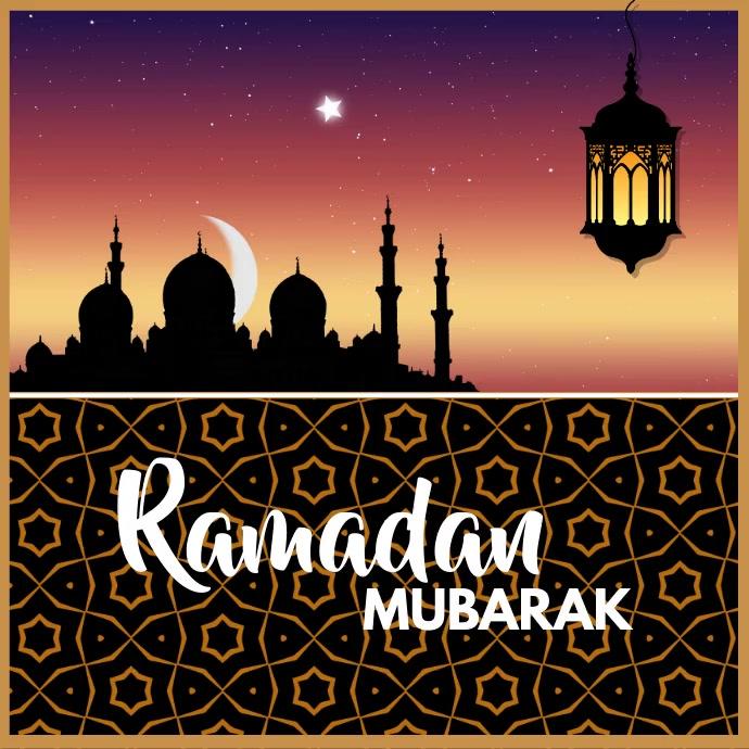 Ramadan, Ramadan Mubarak Instagram Post template