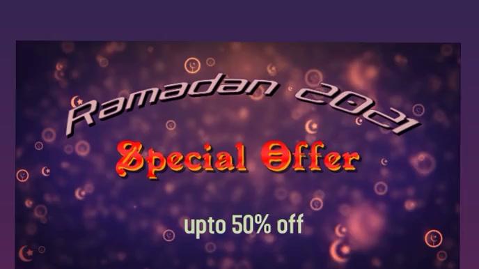 ramadan,event Digitalt display (16:9) template