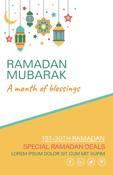 Ramadan,ramazan,eid Tabloid template