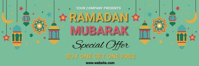 Ramadan,ramazan Banner 2' × 6' template