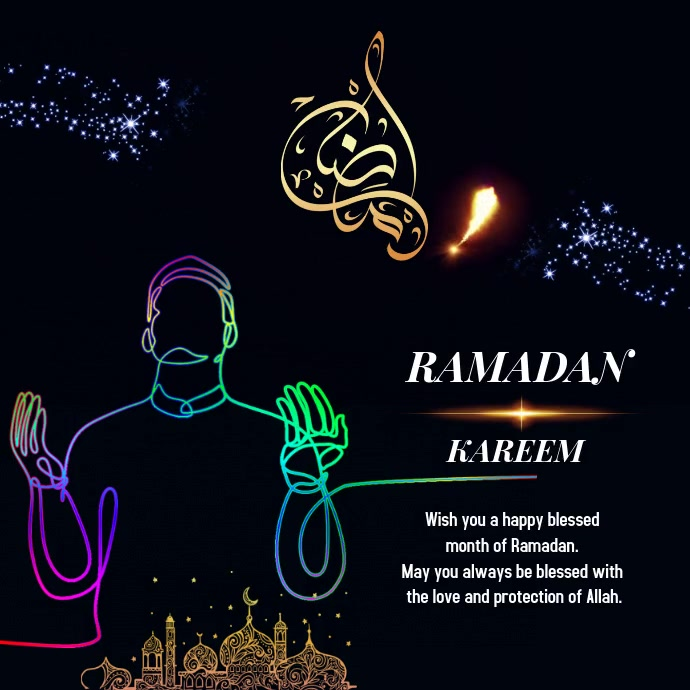 Ramadan 2020 Design Post Instagram template