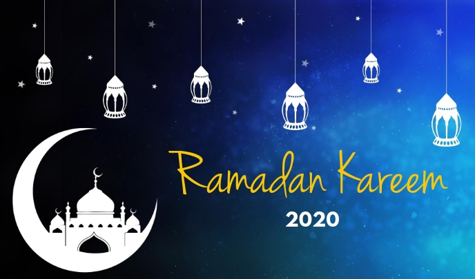 Ramadan 2020 flyer Тег template
