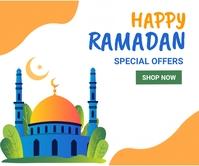Ramadan ad,event, eid Persegi Panjang Besar template